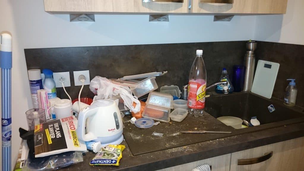Beaumont - Plan de travail à nettoyer